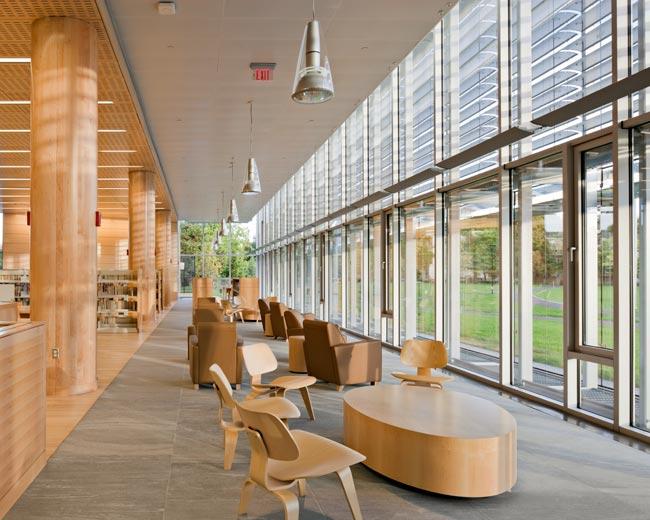 Green buildings the cambridge public library intercon for Design reading room