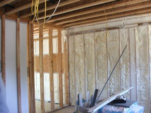 Spray foam insulation can now make the green architecture of external walls of buildings tight
