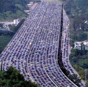 los angeles traffic jams