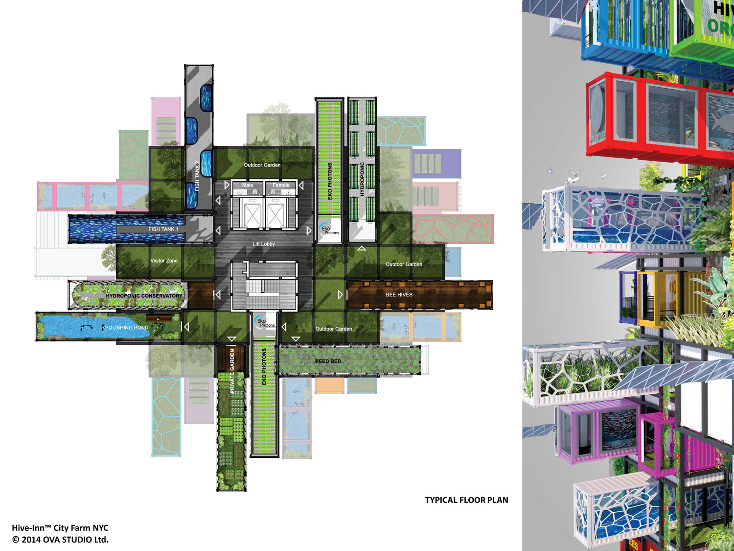 Shipping Container Floor Plan Designs Hive Farm Proposes Plug And Play Vertical Farming Intercon